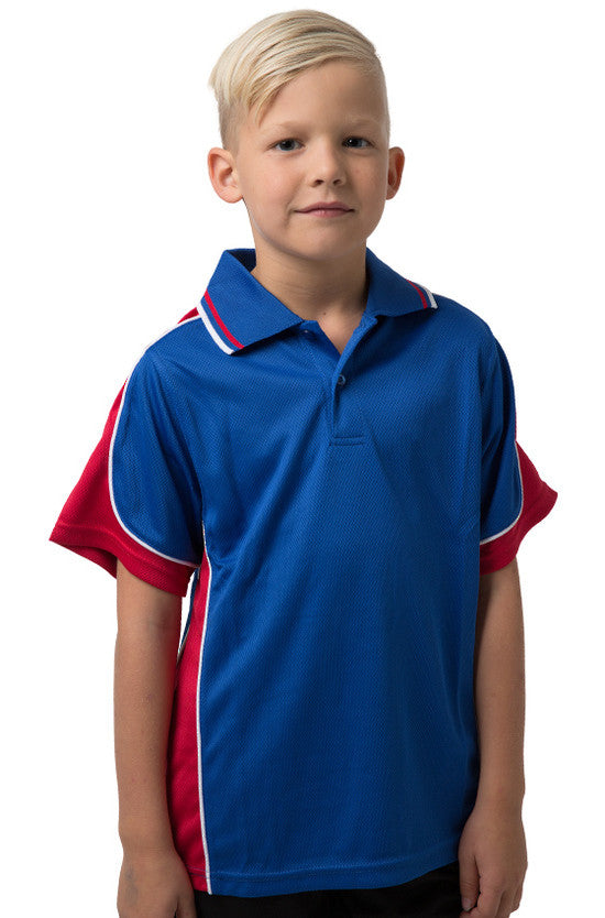 Kids Coloured Cooldry Panel Polo