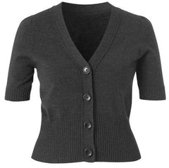 Ladies Rib Trim Cardigan