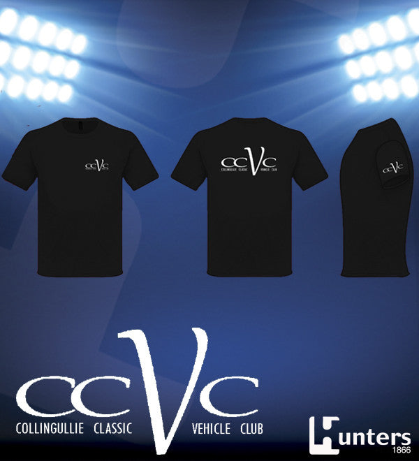 LADIES CCVC BLACK COTTON TEE
