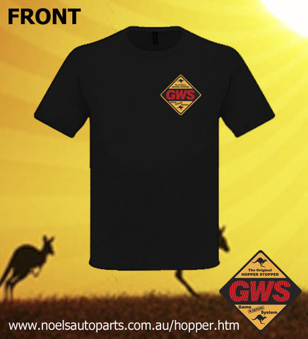 Picture of GWS HOPPER STOPPER Black Tee - LADIES