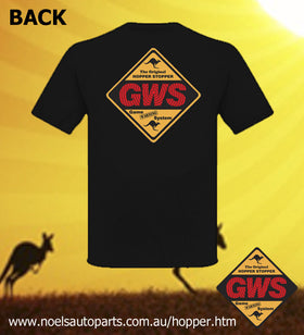 GWS HOPPER STOPPER Black Tee - LADIES
