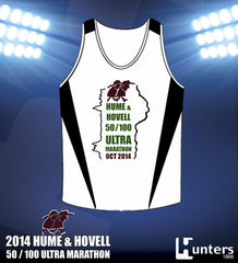 ADULTS & KIDS H&H RUNNING SINGLET - WHITE/BLACK