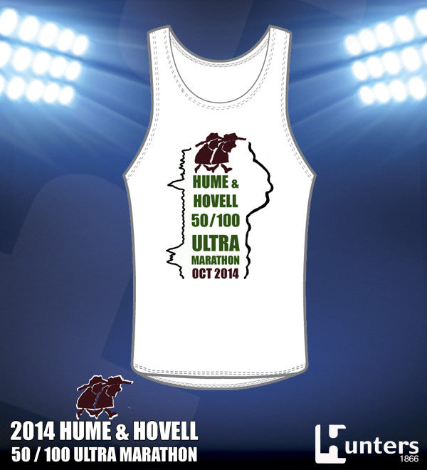 ADULTS & KIDS H&H RUNNING SINGLET - WHITE Only