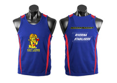 HAY LIONS LADIES NETBALL SINGLETS royal/red