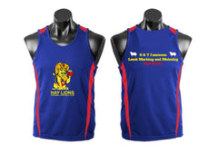 HAY LIONS UNDER 14s SINGLET royal/red