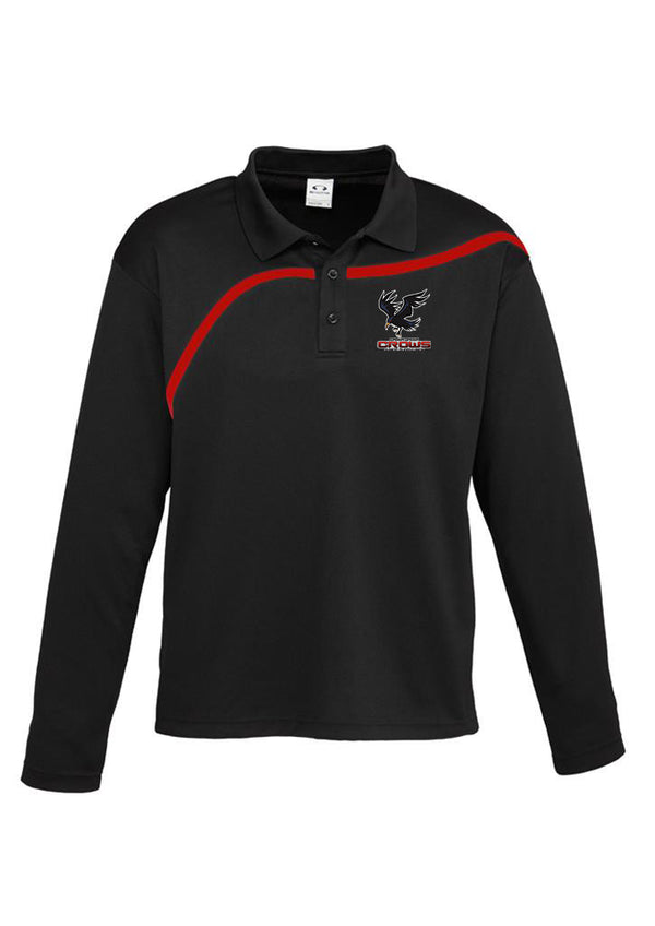Wagga Crows Junior Rugby Hero L/S Polo- Adults