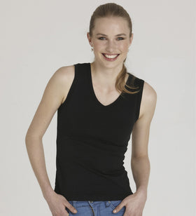 Ladies Sleevless V Neck Tank Top