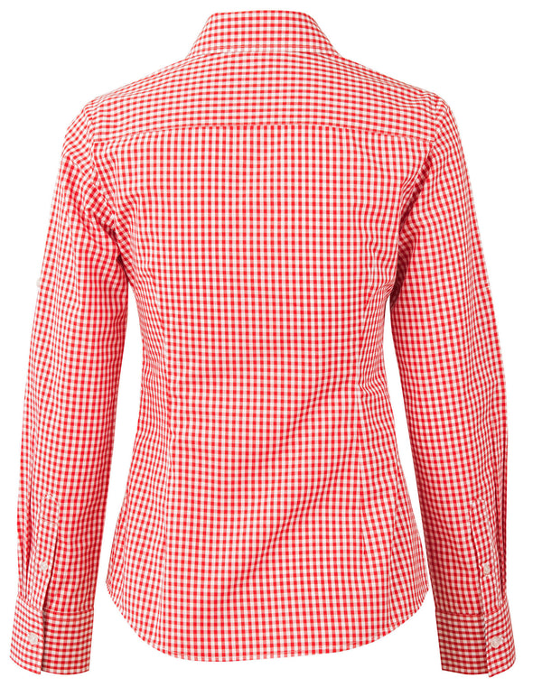 CSU Reddies Ladies' Gingham Check Long Sleeve Shirt
