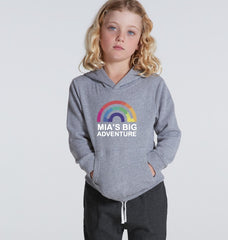 Mia's Big Adventure Kids Rainbow Hoodie