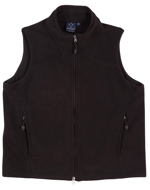 Mens Bonded Fleece Diamond Vest