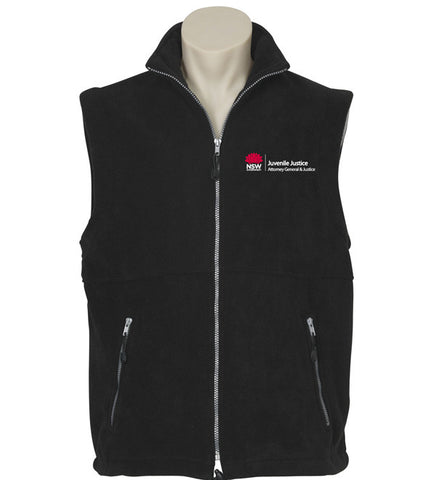 Picture of Mens Juvenile Justice Plain Microfleece Vest