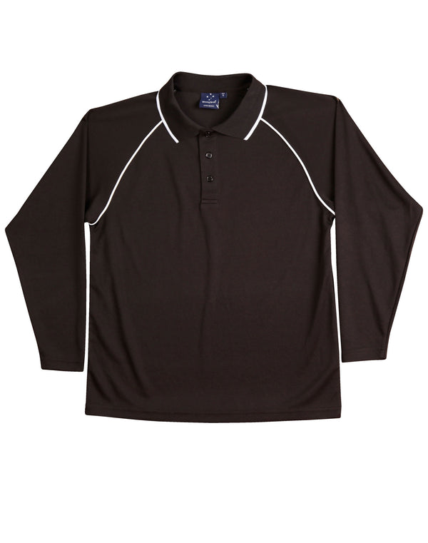 Mens CoolDry Long Sleeve Champion Plus Polo