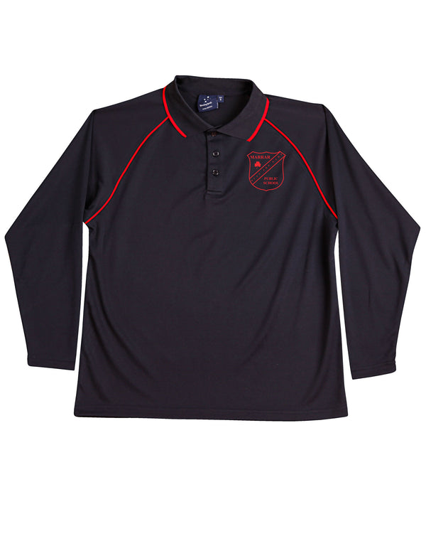 Marrar Public School Kids CoolDry Long Sleeve  Polo