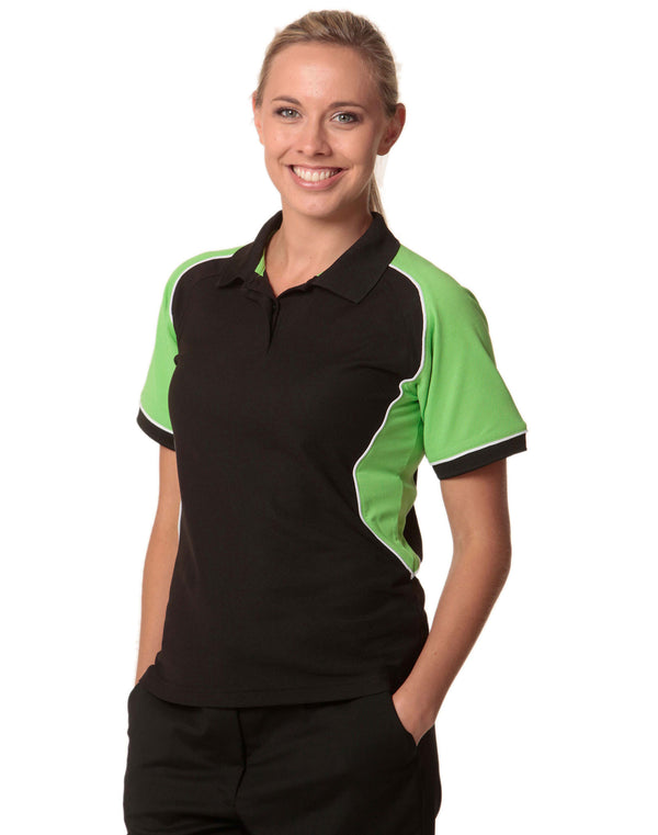 Ladies TrueDry Tri-colour Short Sleeve Pique Polo