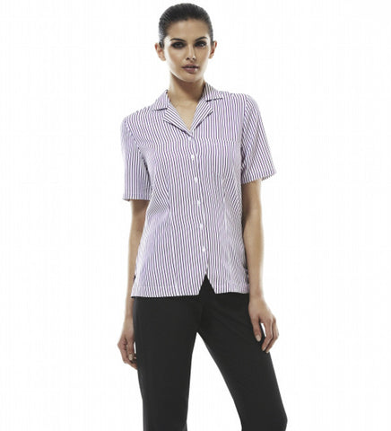 Picture of Ladies Short Sleeve Action Back Overblouse