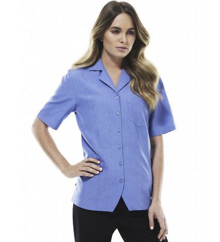 Picture of Ladies Short Sleeve Action Back Oasis Blouse