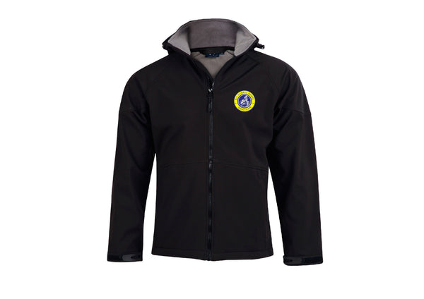 SABHA- ASPEN HOODED BLACK JACKET