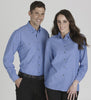 Ladies Wrinkle Free Chambray Shirt