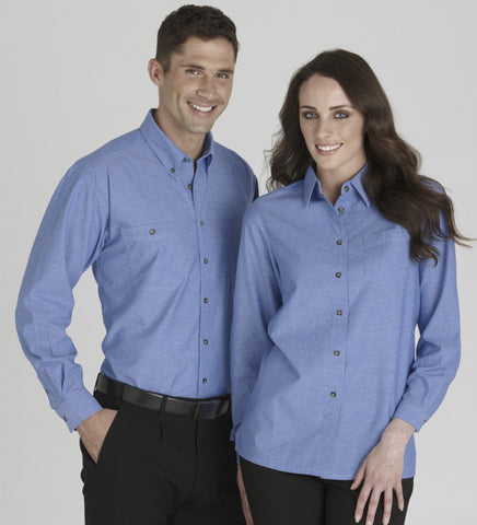 Picture of Mens Wrinkle Free Chambray Shirt