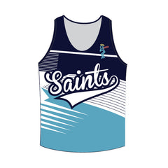 **CUSTOM MADE**- Kids Saints Softball Singlet