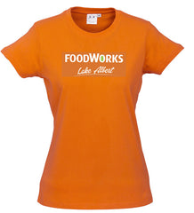 Ladies Foodworks Orange Tee