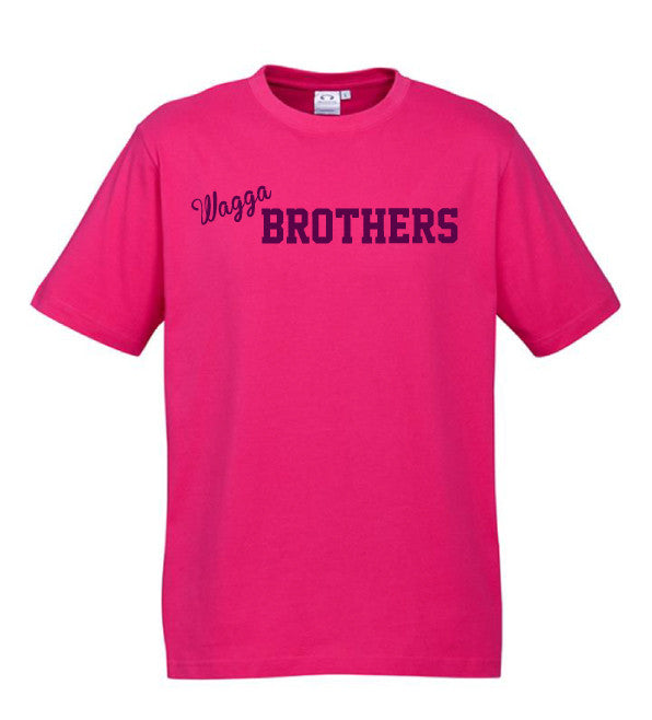 Adults Brothers Tee -  Hot Pink