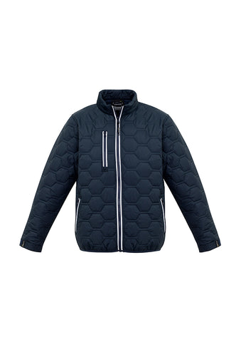 Picture of NEW Streetworx Unisex Hexagonal Puffer Jacket - Navy