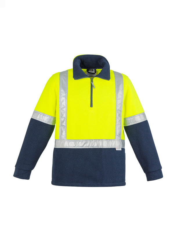 Mens Hi Vis Fleece Jumper - Shoulder Taped