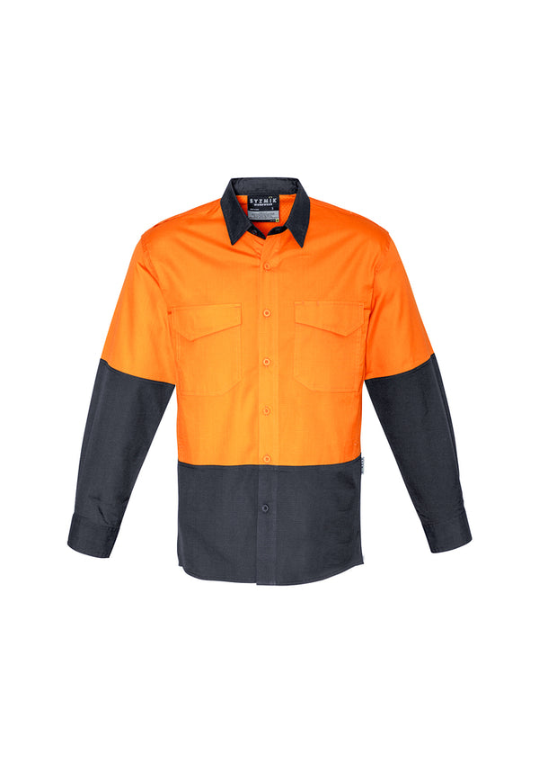 Mens Rugged Cooling Hi Vis Spliced Shirt