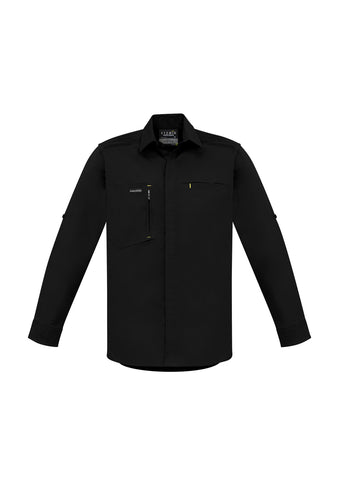 Picture of NEW Streetworx Mens L/S Stretch Shirt - Black