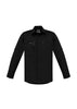 NEW Streetworx Mens L/S Stretch Shirt - Black