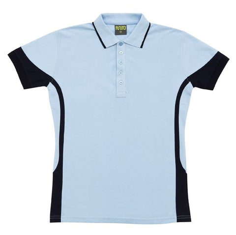 Picture of Ladies Fine Cotton/Poly Contrast Polo