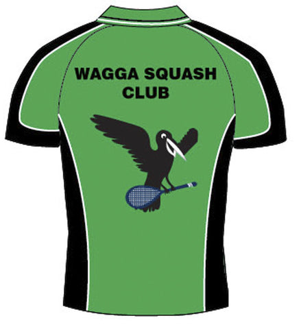 Picture of Mens green Crow squash Polo