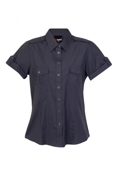 Ladies Short Sleeve Military Shirt