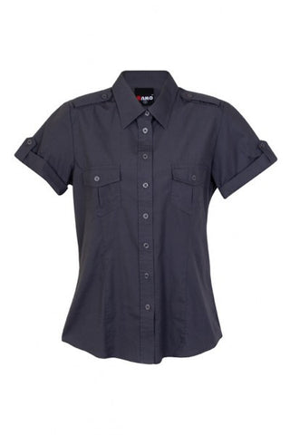 Picture of Ladies Short Sleeve Military Shirt