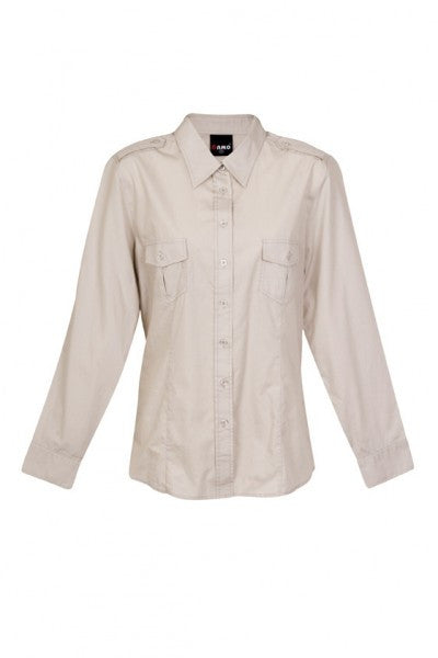 Ladies Long Sleeve Military Shirt