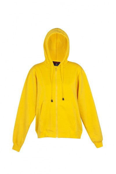 Ladies/Juniors Coloured Zip Hoodie