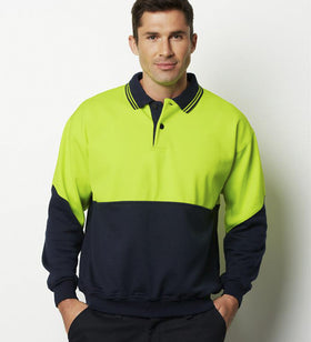 Mens Fluoro Fleece Jumper