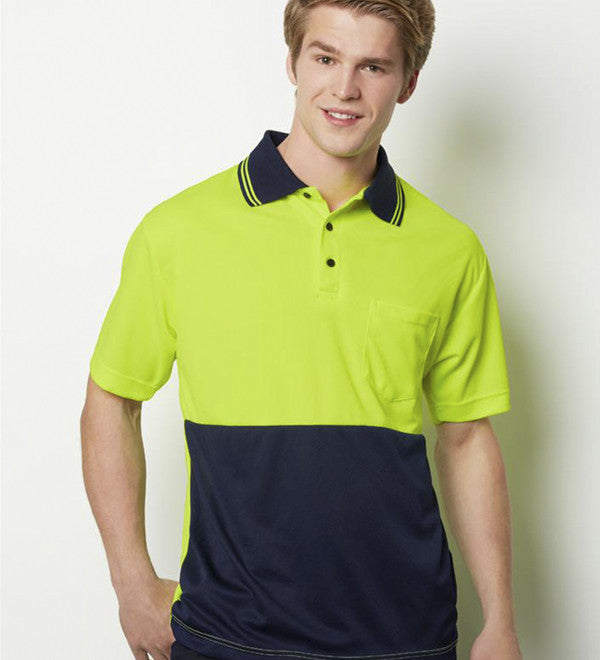 Mens Fluoro Short Sleeve Polo