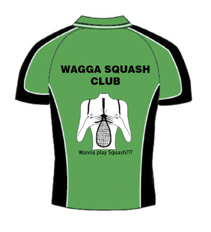 Picture of Ladies Green Racquet Squash Polo