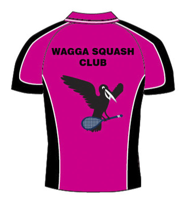 Mens Pink Crow squash Polo