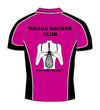 Ladies Pink Racquet Squash Polo