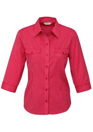 Ladies 3/4 Sleeve Cuban Shirt