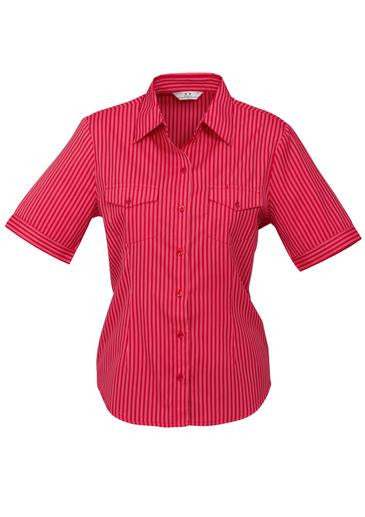 Ladies Short Sleeve Cuban Shirt