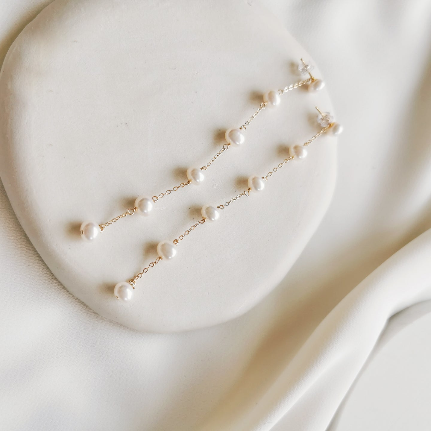 freshwater pearl charms with gold plated chain necklace, pearl necklace, gold necklace, gold charm