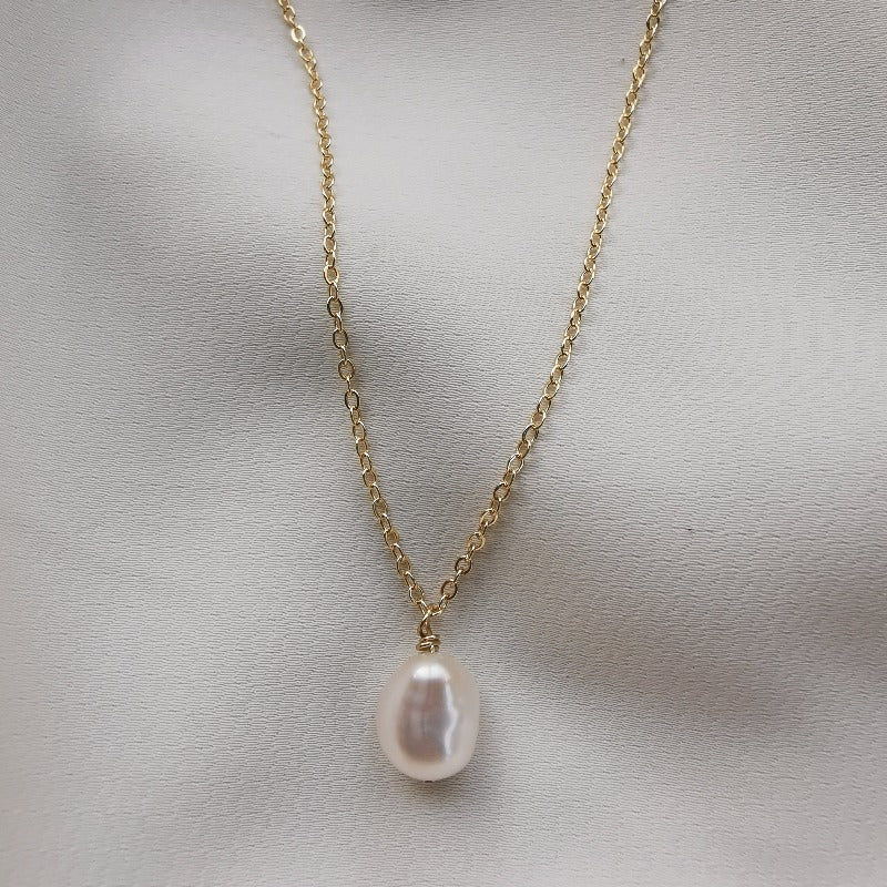 PearlLover | Jade I Single Baroque Pearl Pendant