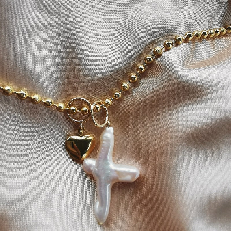 C&C | Cross My Heart Charms Combo (Necklace)
