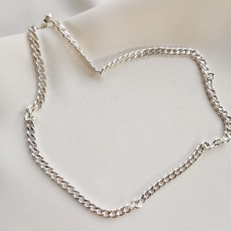 Ryleigh Curb Chain (Silver) Zenelia Jewel C&C Collection freshwater baroque keshi pearl 14k gold filled zenelia jewel pearl jewellery pearl necklace keshi pearl earrings baroque pearl bracelet fashion jewellery sterling silver earrings
