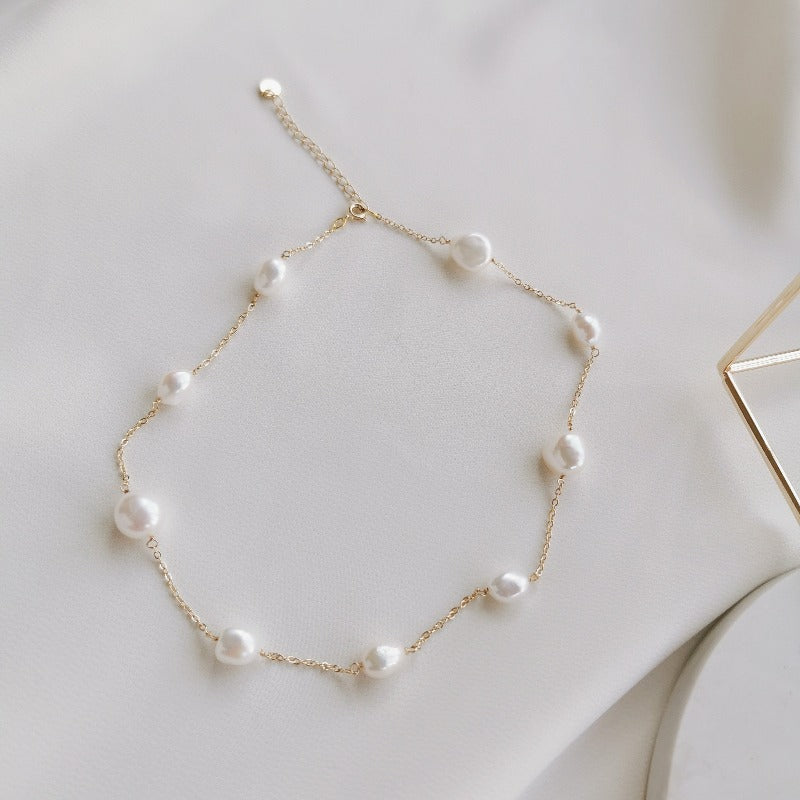 PearlLover | Rylee Pearl Necklace I (choker length)