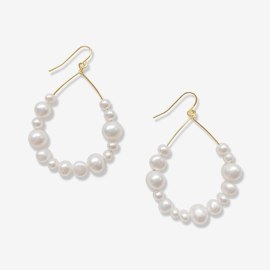 V | Emberly Pearl Hoop Earrings